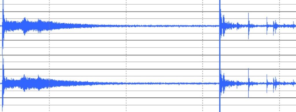 マットとコンクリート時の波形