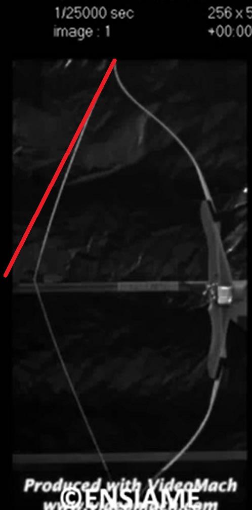 リカーブボウのストリングの変化