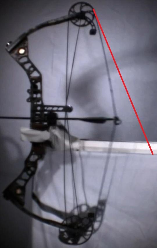 コンパウンドボウのストリングの変化