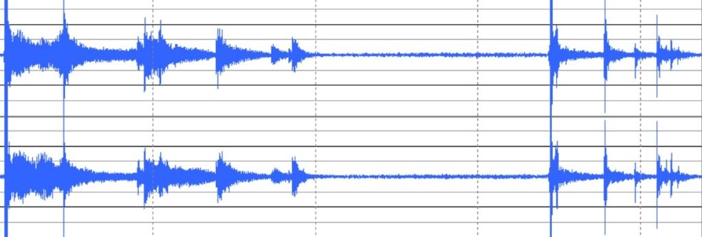 コンクリート時の波形
